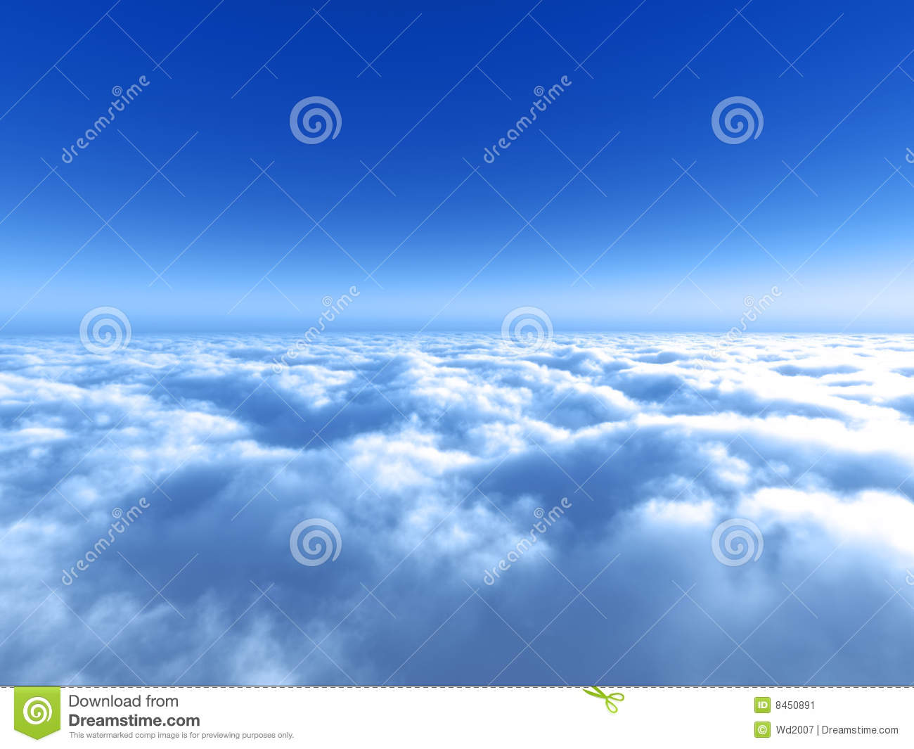 bright blue sky above the cloud stock image image of outdoor