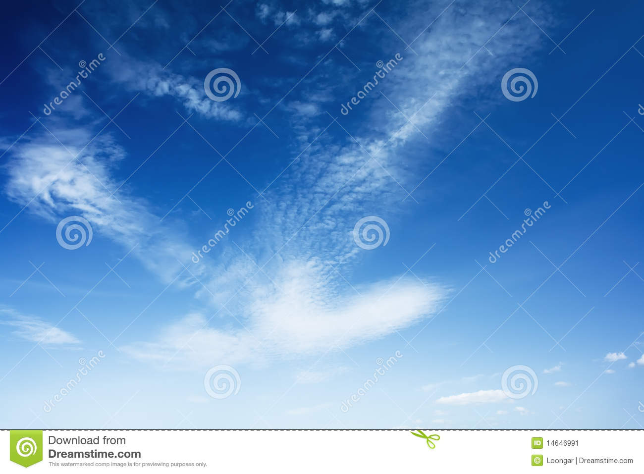 Download image Bright Blue Sky With Clouds PC, Android, iPhone and ...