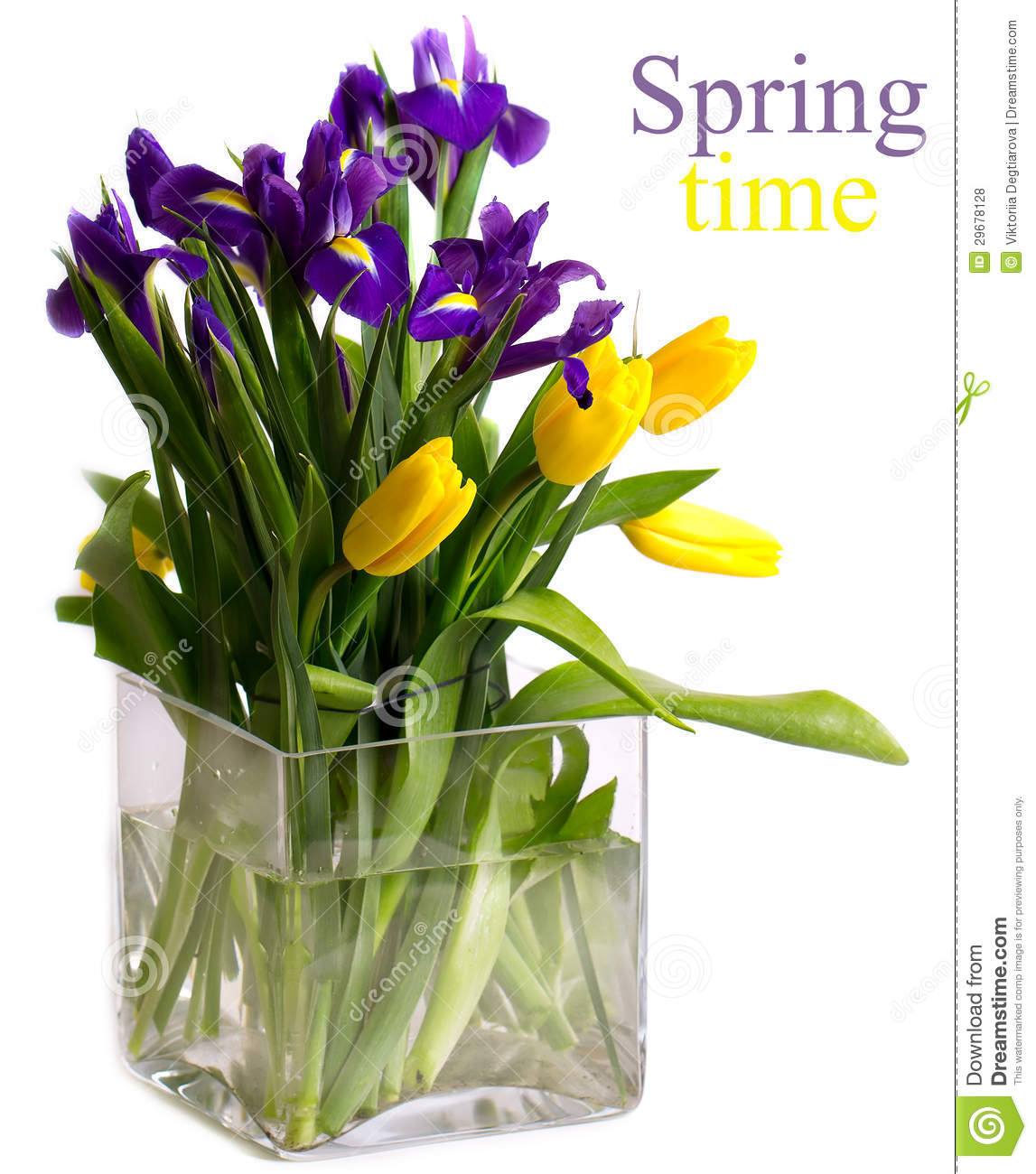 Bright bouquet of spring flowers