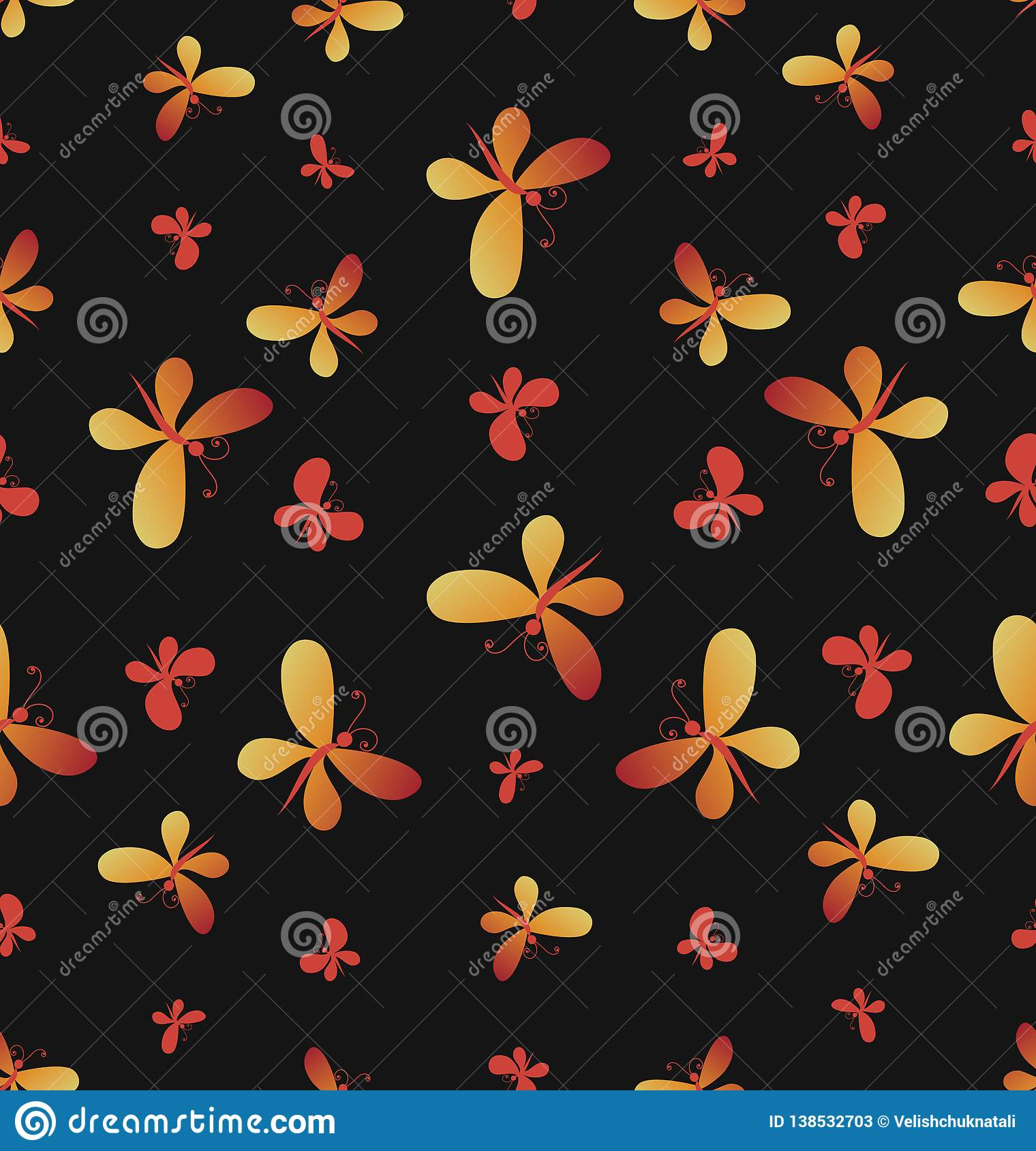 Bright Butterflies. Seamless Pattern. Stock Vector - Illustration of ... ef0caba51