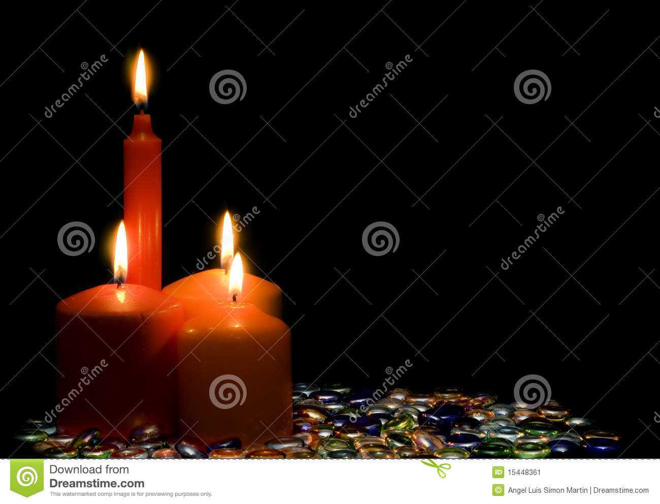 Bright Candles Stock Image Image 15448361