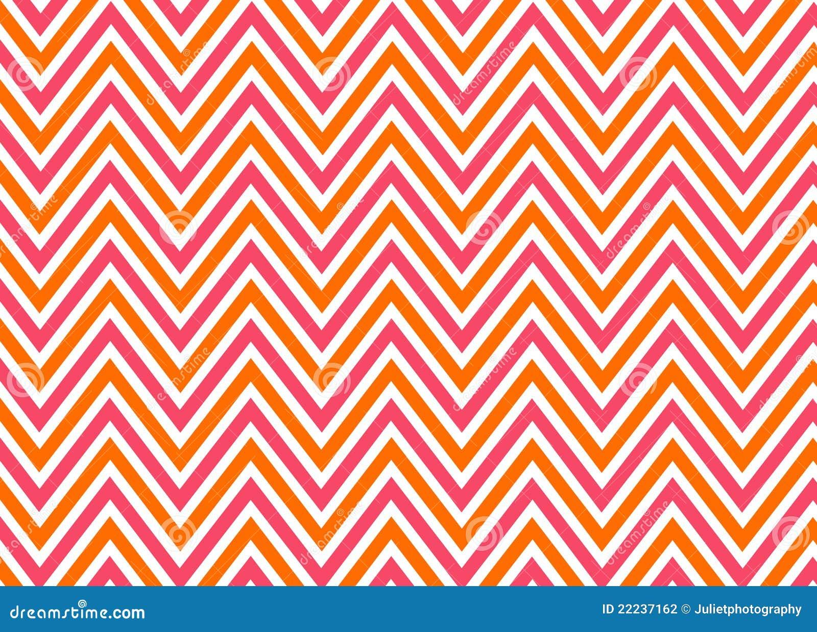 Bright chevron red, orange and white pattern