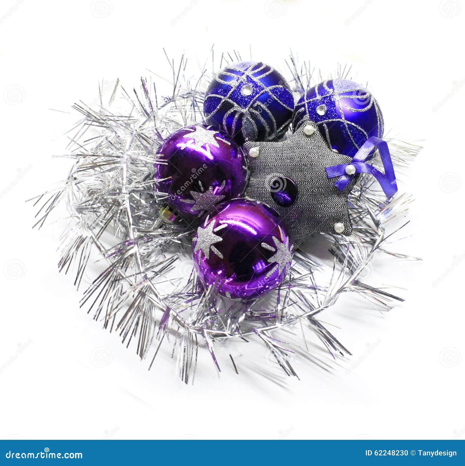 Bright Christmas Decorations Stock Photo