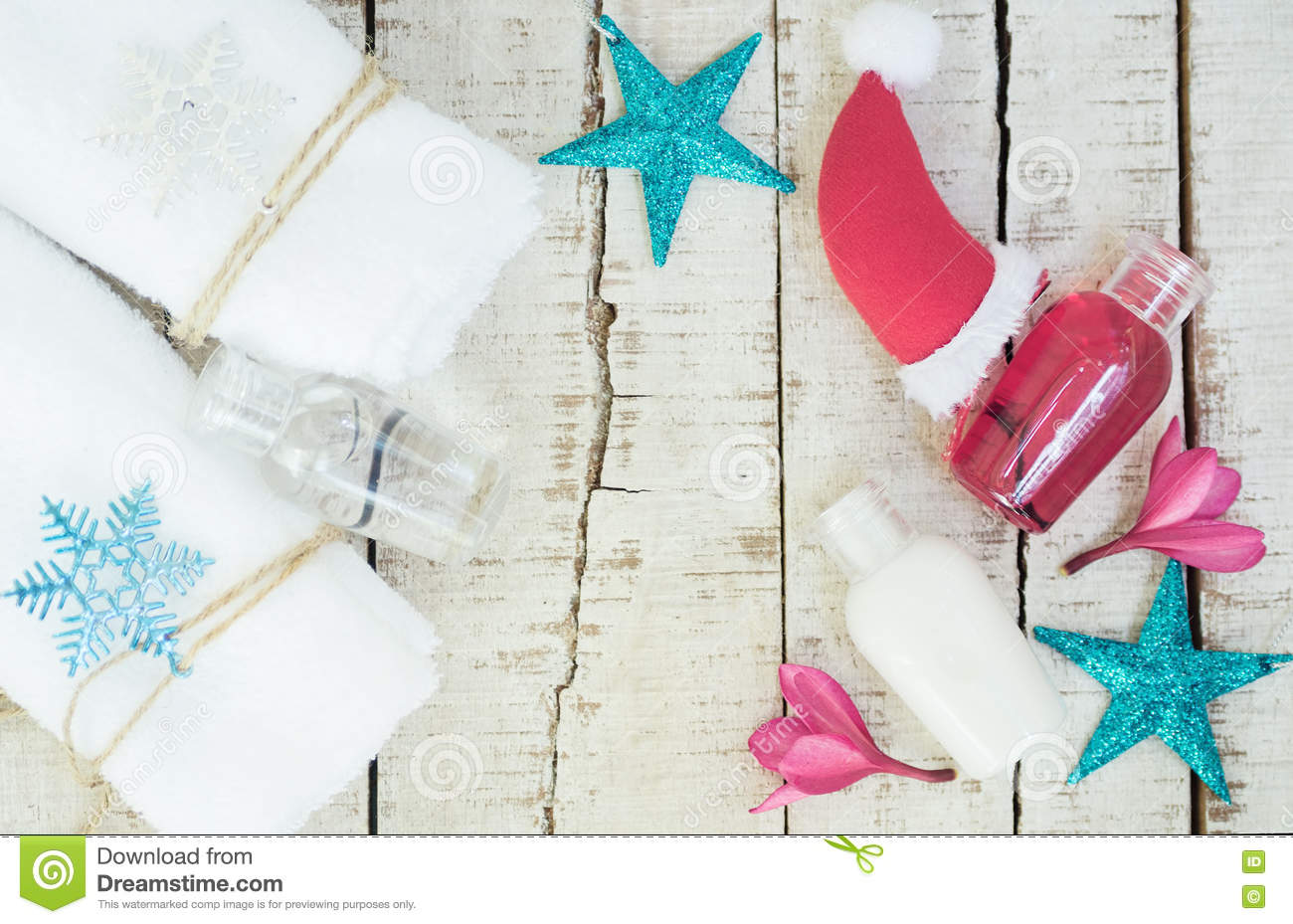 Bright Christmas Spa Background Stock Photo - Image of