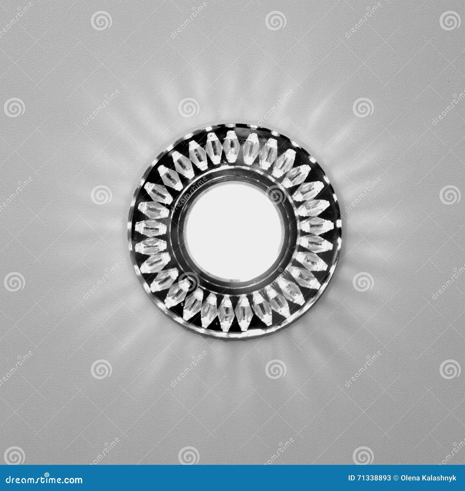 Bright Circular Lamp On The Ceiling Stock Image Image Of Beautiful Lamp 71338893
