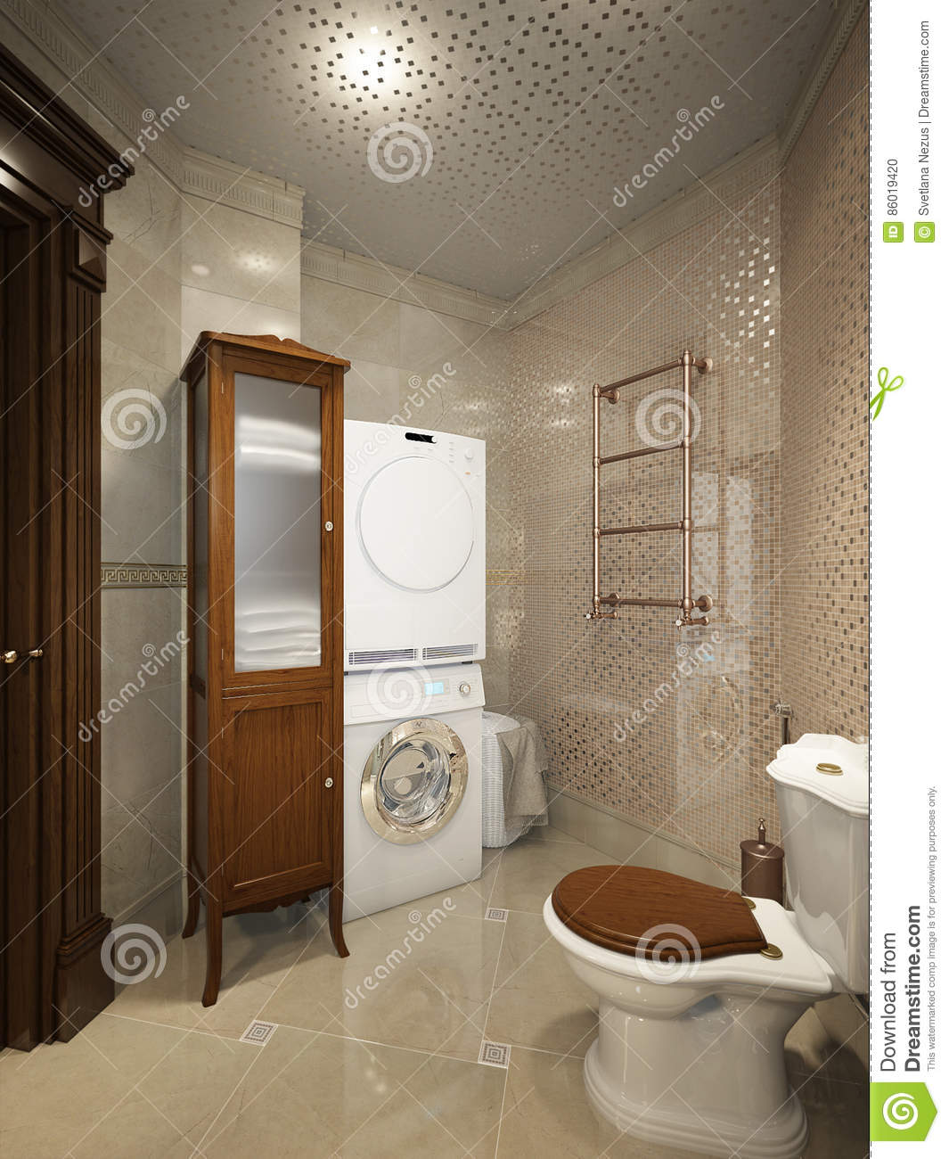 Bright classic traditional laundry room and bathroom for House plans with large laundry room