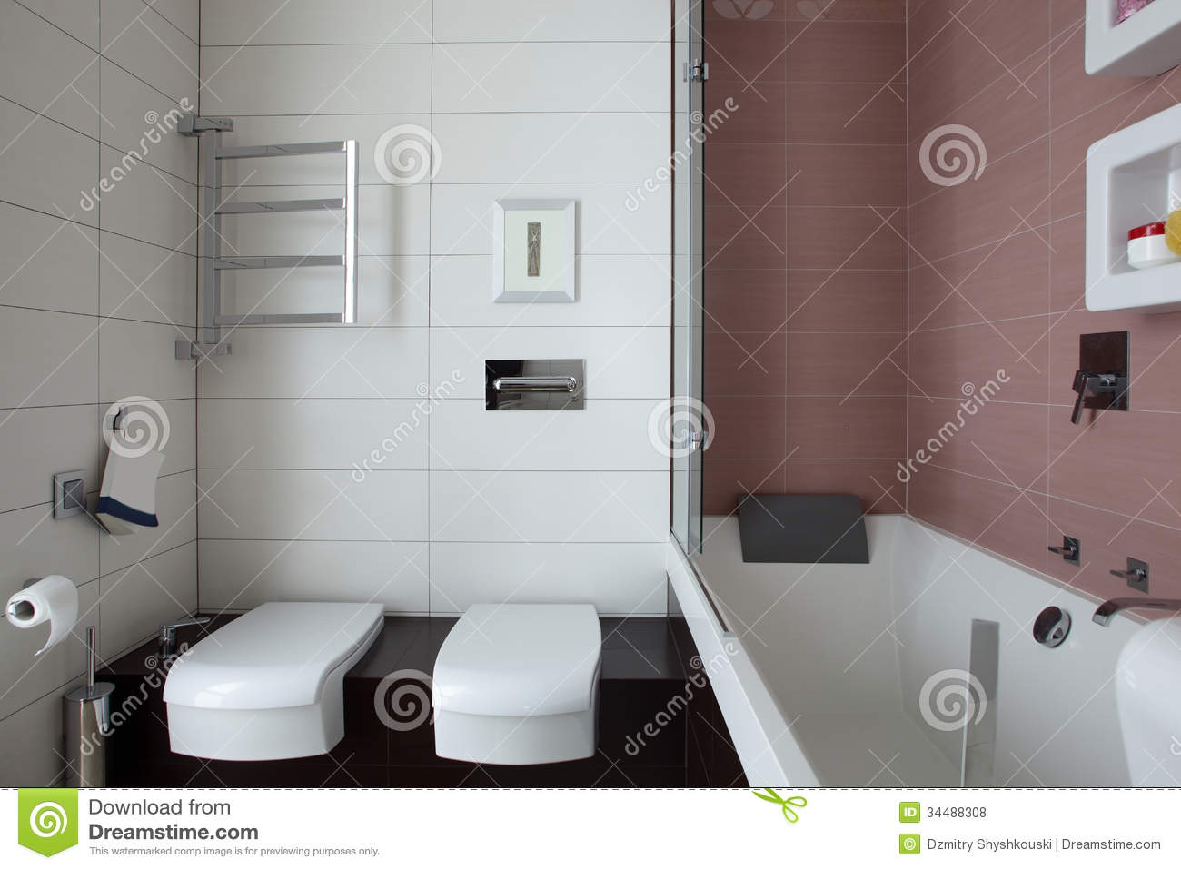 Bright And Clean European Toilet Stock Photo - Image of bathroom ...