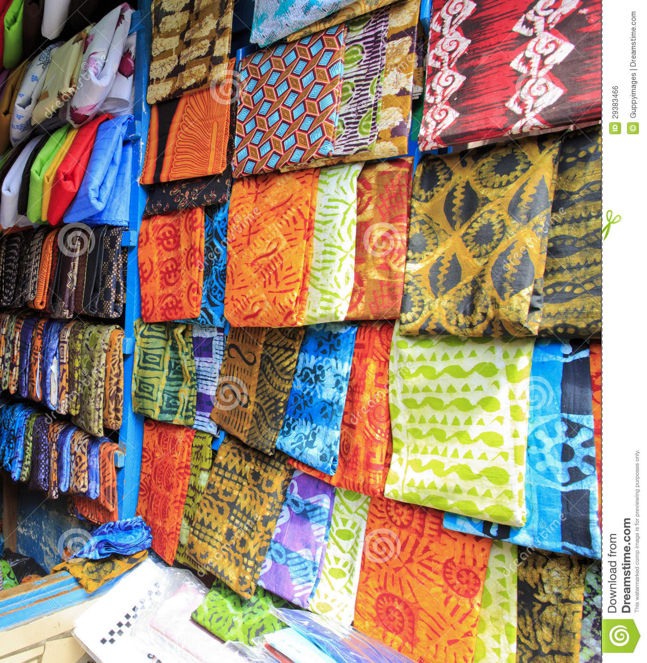 Bright Cloth For Sale At The Market Royalty Free Stock