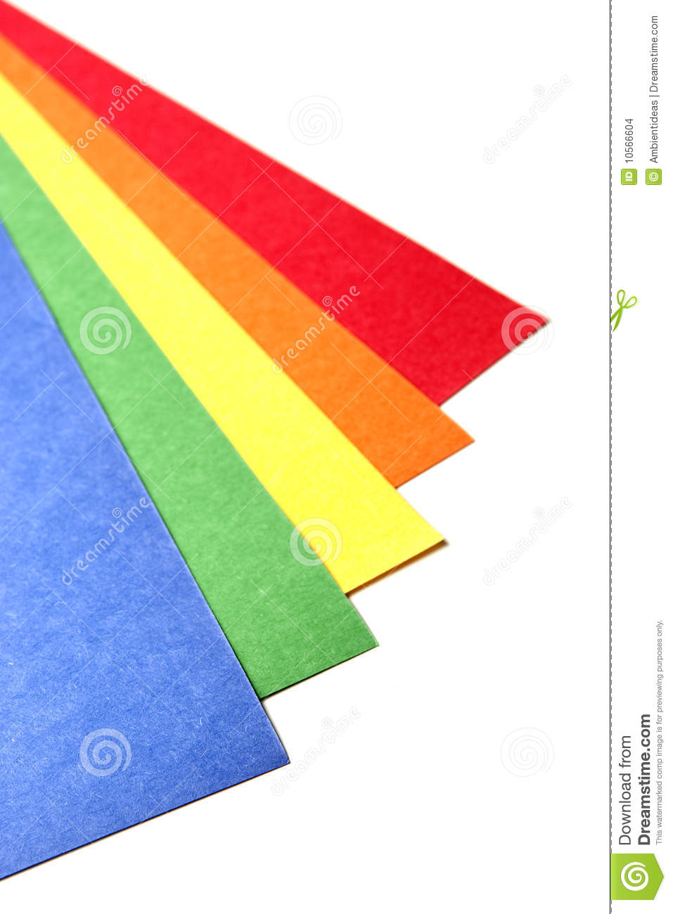 Bright Color Craft Paper Stock Photo Image Of Handmade 10566604