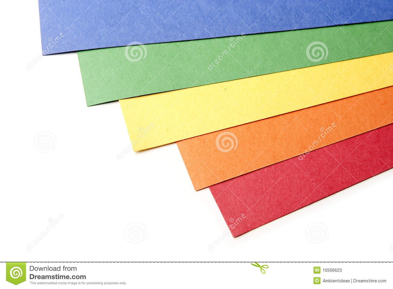 Bright Color Craft Paper Stock Image Image Of Trim Craft 10566623