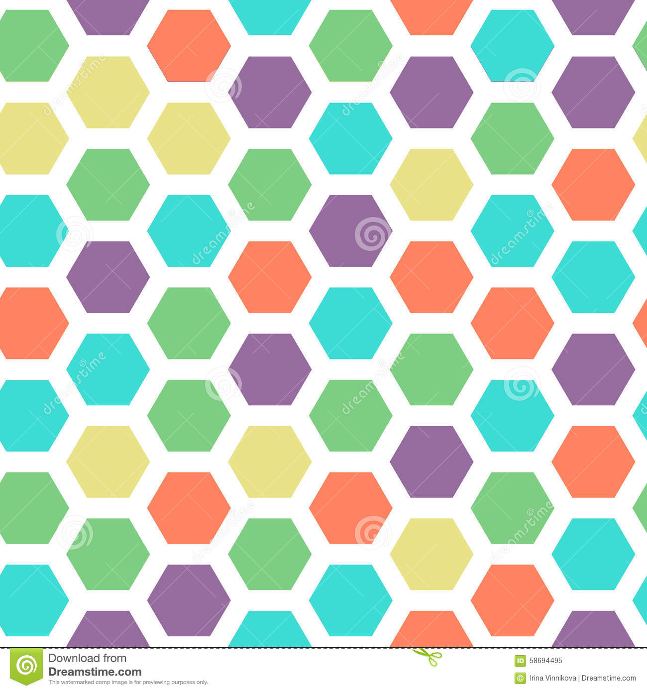 bright color hexagon seamless pattern with green violet. Black Bedroom Furniture Sets. Home Design Ideas