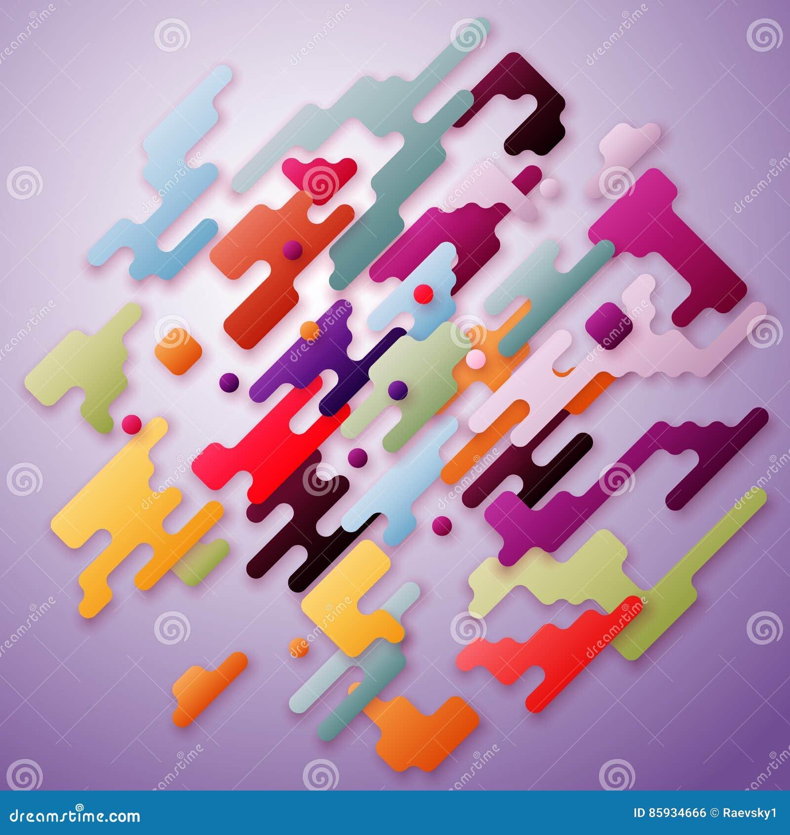Colorful Minimalist Design: Bright Color Lines And Dots, Colorful Minimalist Design