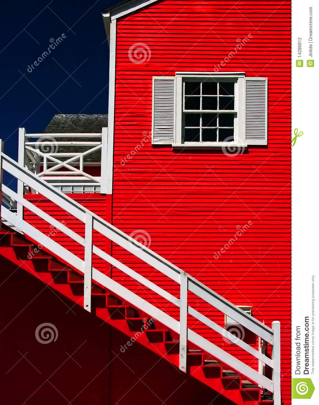 Bright Color Paint On House Exterior Stock Photo Image