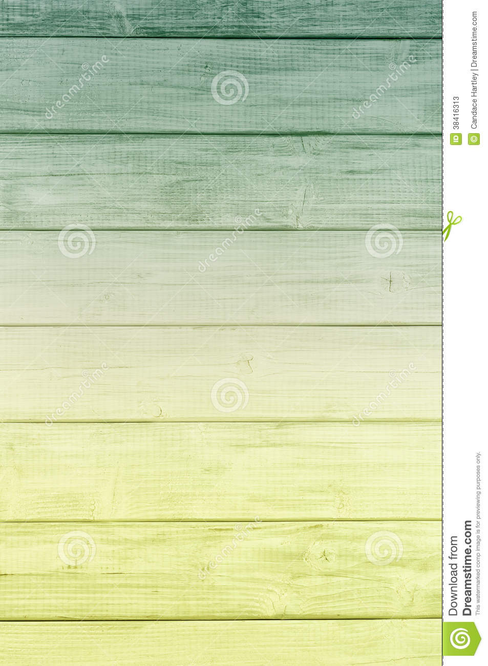 Bright Color Spectrum Dark Green To Yellow Rustic Painted Board Background Room Or Space For Copy Text Words
