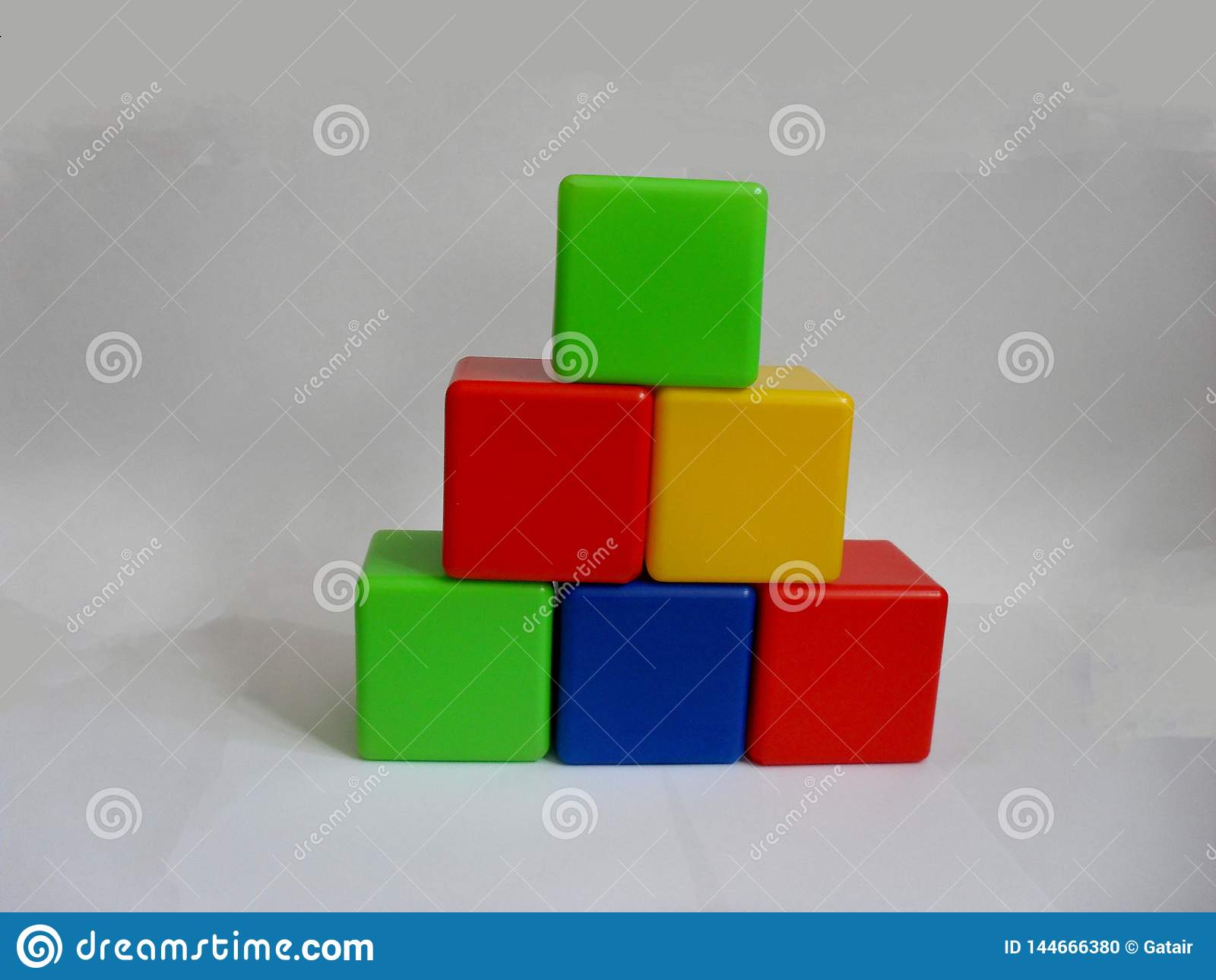 Bright colored childrens cubes