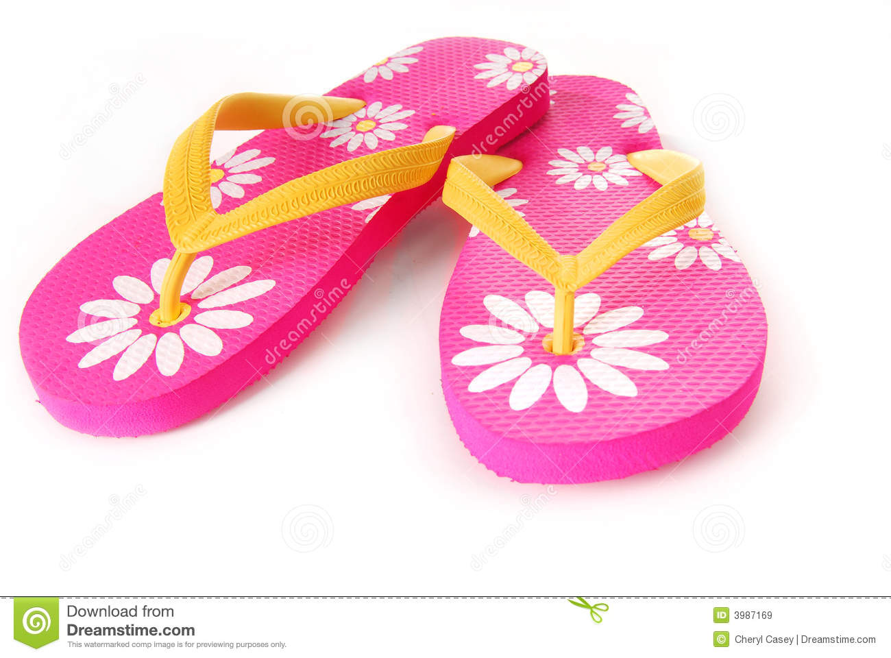 e951de039b50be Bright Colored Flip Flops stock image. Image of clothing - 3987169