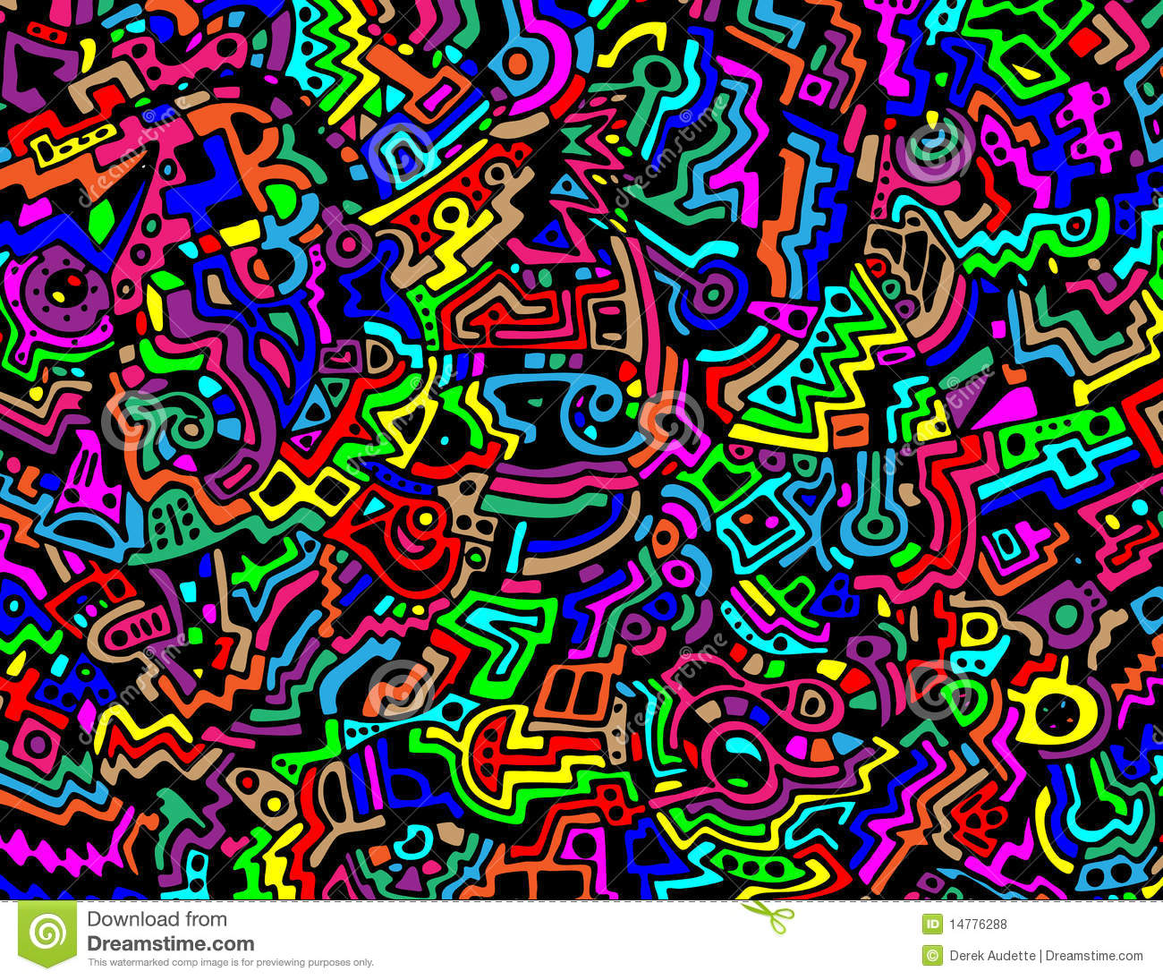 Bright And Colorful Abstract Vector Background Stock