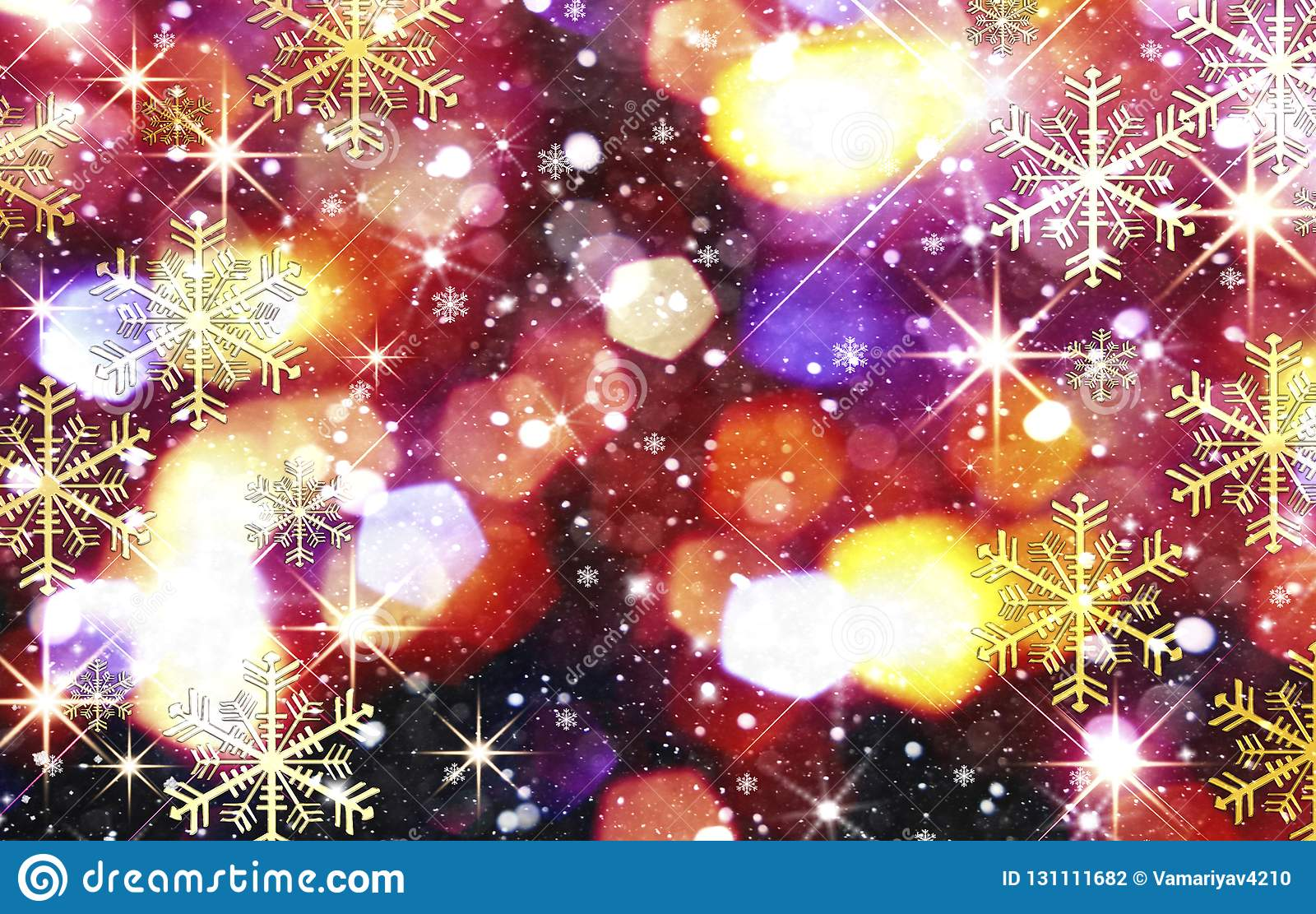 Colorful Christmas Background Design.Bright Colorful Christmas Background Blurred Background