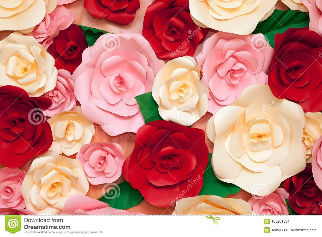 Bright Colorful Flower Background For Decoration Close Up Stock
