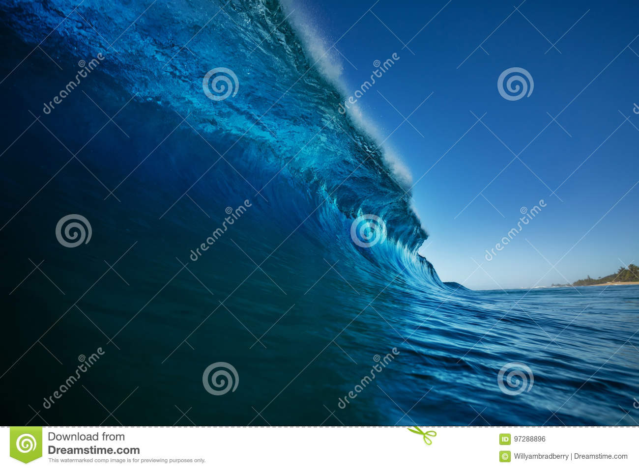 Bright colorful ocean wave sea background