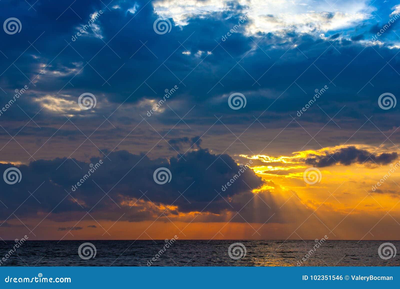 Sunset on the Lombok island, Indonesia.