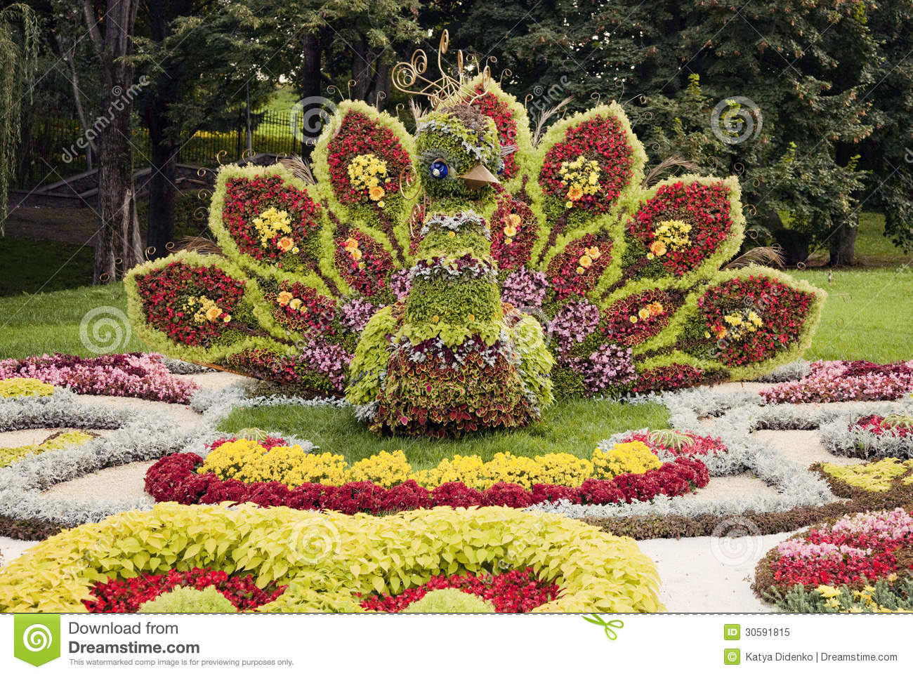 Bright colorful peacock flower sculpture flower show in ukraine bright colorful peacock flower sculpture flower show in ukraine 2012 izmirmasajfo Choice Image