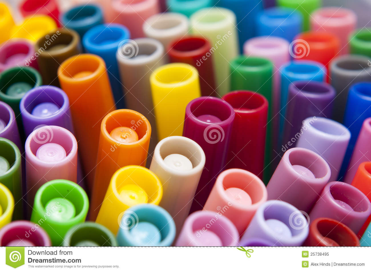 Bright Colorful Pens Stock Image Image Of Pens Primary 25738495