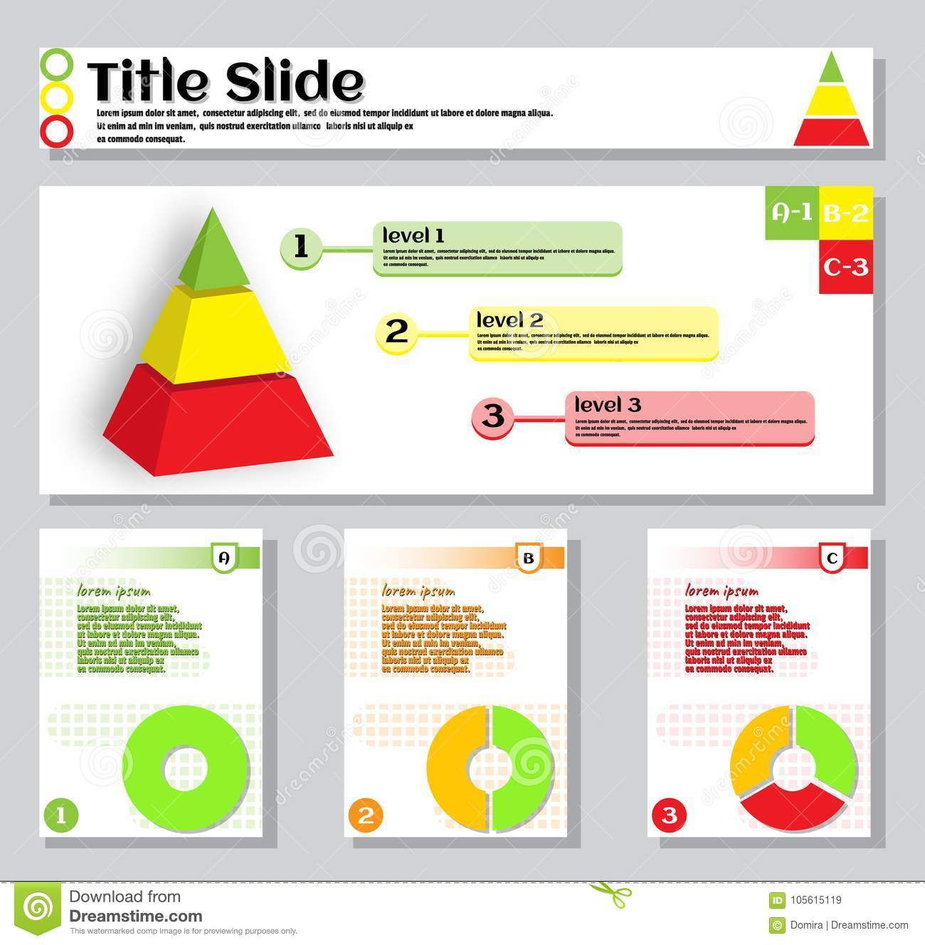 bright colorful template slide on business theme for annual report