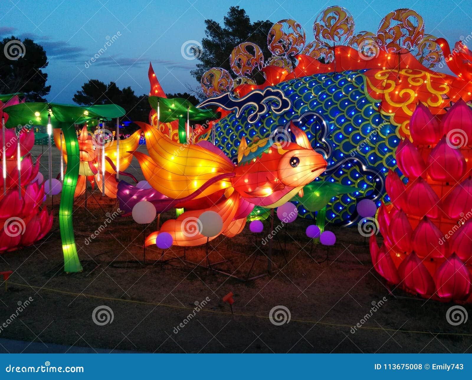 Underwater Fish Scene At Chinese Lantern Festival Stock Photo ...
