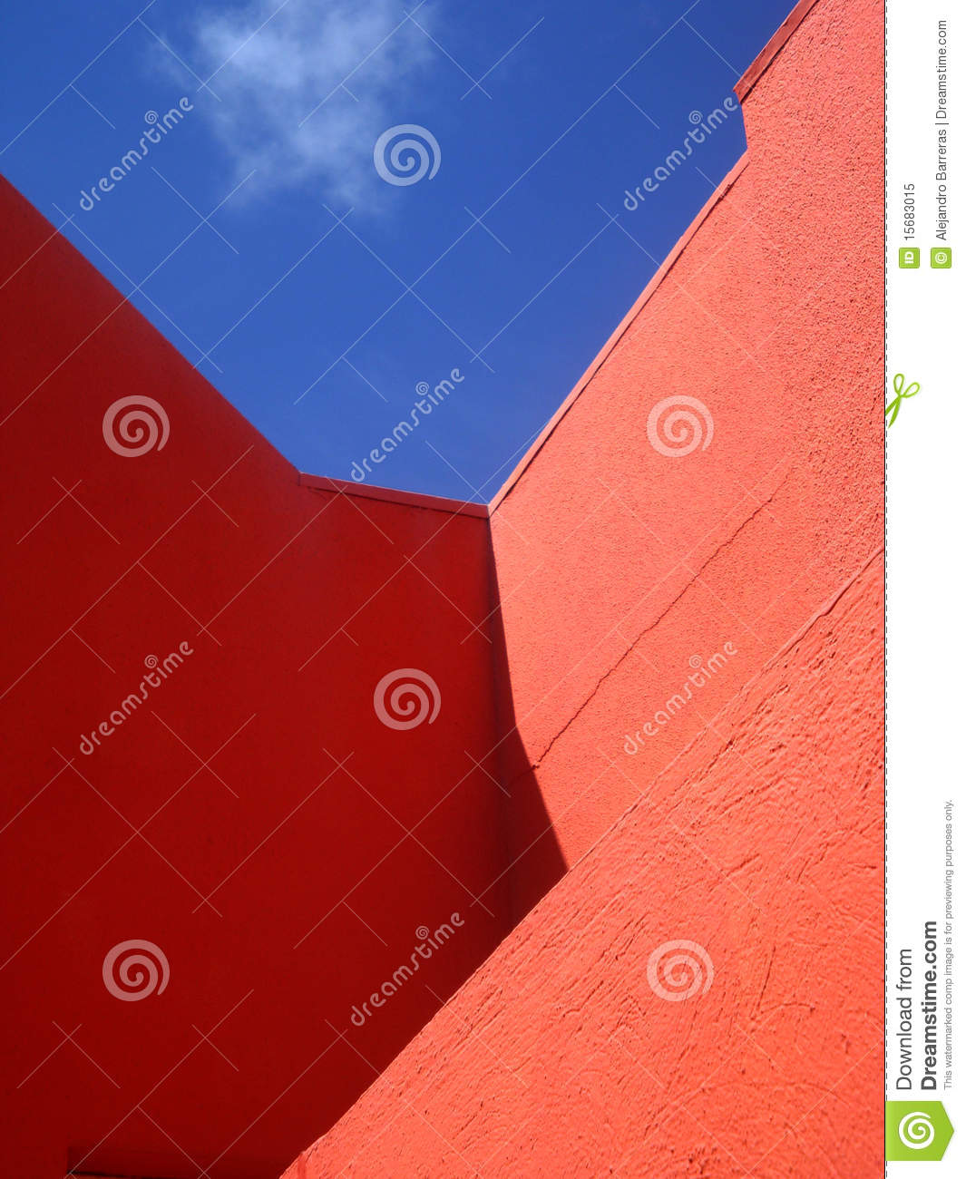 Bright colorful walls in Willemstad, Curacao