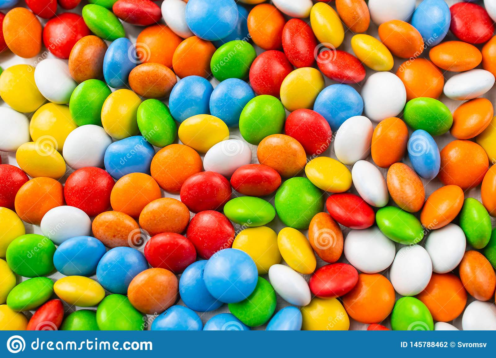 Bright colorfull background with glazed candies