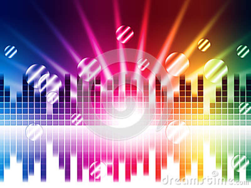 Download Bright Colors Background Shows Sound Light Waves And Circles Stock  Illustration   Illustration Of Round