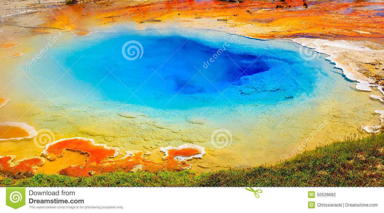 Bright Colors, Hot Spring, Yellowstone National Park