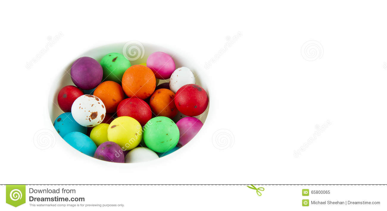 Bright coloured speckled eggs
