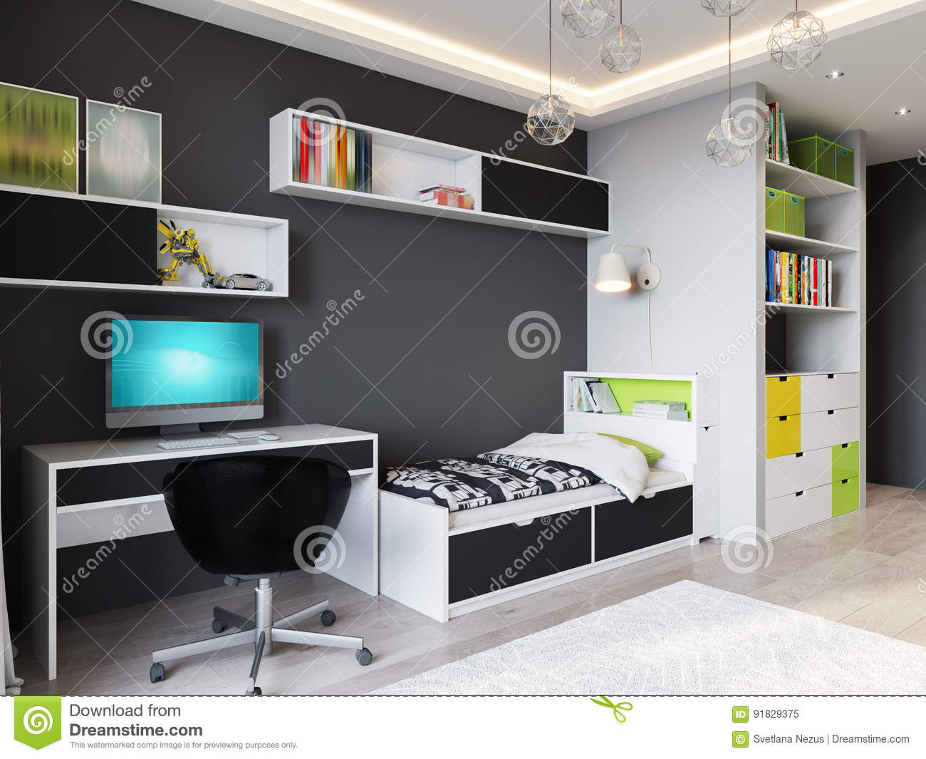 Accents cartoons illustrations vector stock images 1384 pictures to download from - Outstanding one room apartment decoration in bright white design ...
