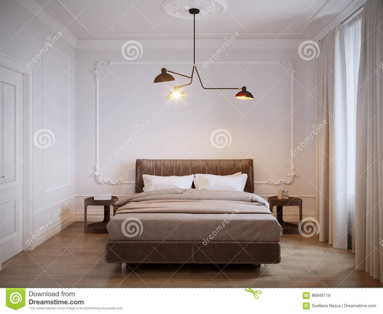 Interior Design Camera Da Letto.Bright And Cozy Modern Bedroom Interior Design With White Walls