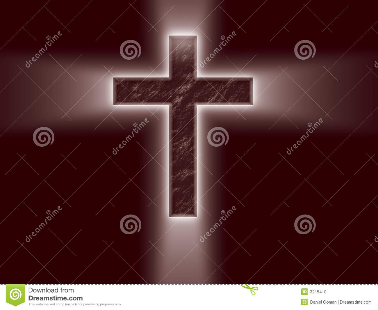 Bright Cross with light rays