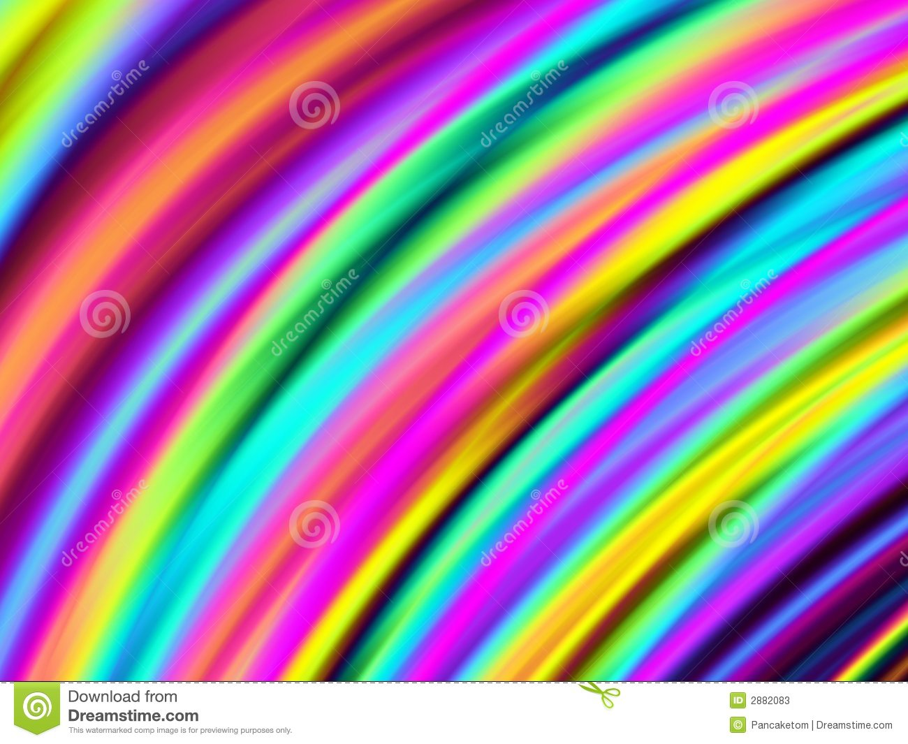 Bright Curved Colors Stock Illustration. Image Of Colours
