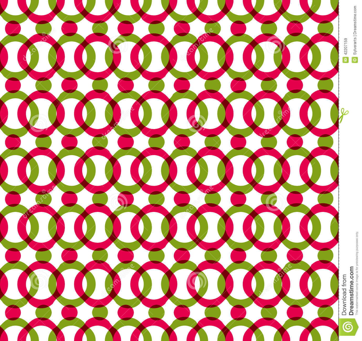 Red Book Cover Pattern : Bright dotted seamless pattern with red and green circles