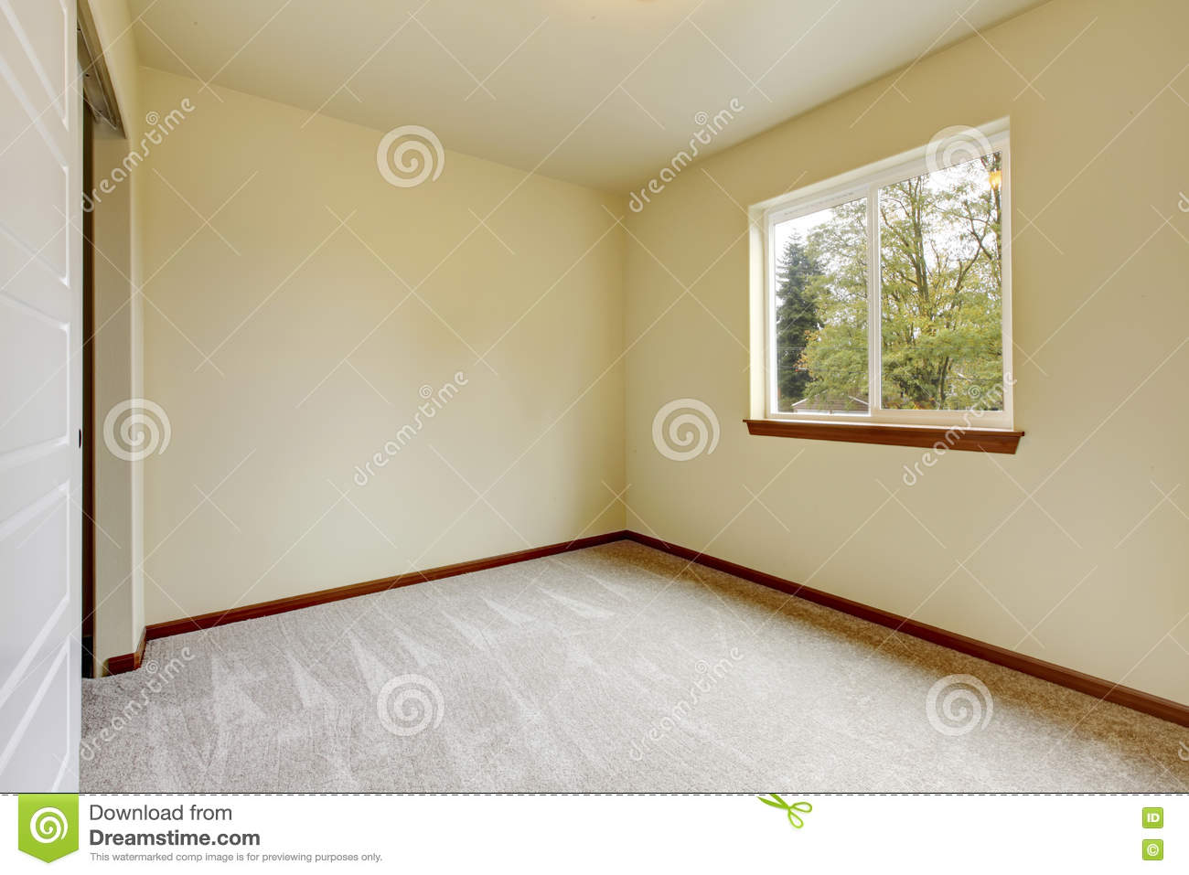 Bright empty room with carpet floor window ivory walls stock photo image 73072102 - Very small space of time image ...
