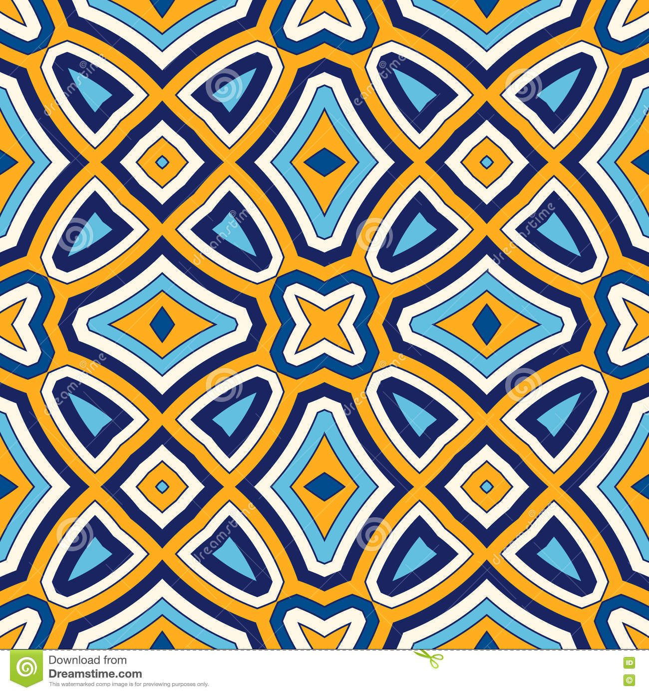 Abstract Ethnic Seamless Geometric Pattern Vector