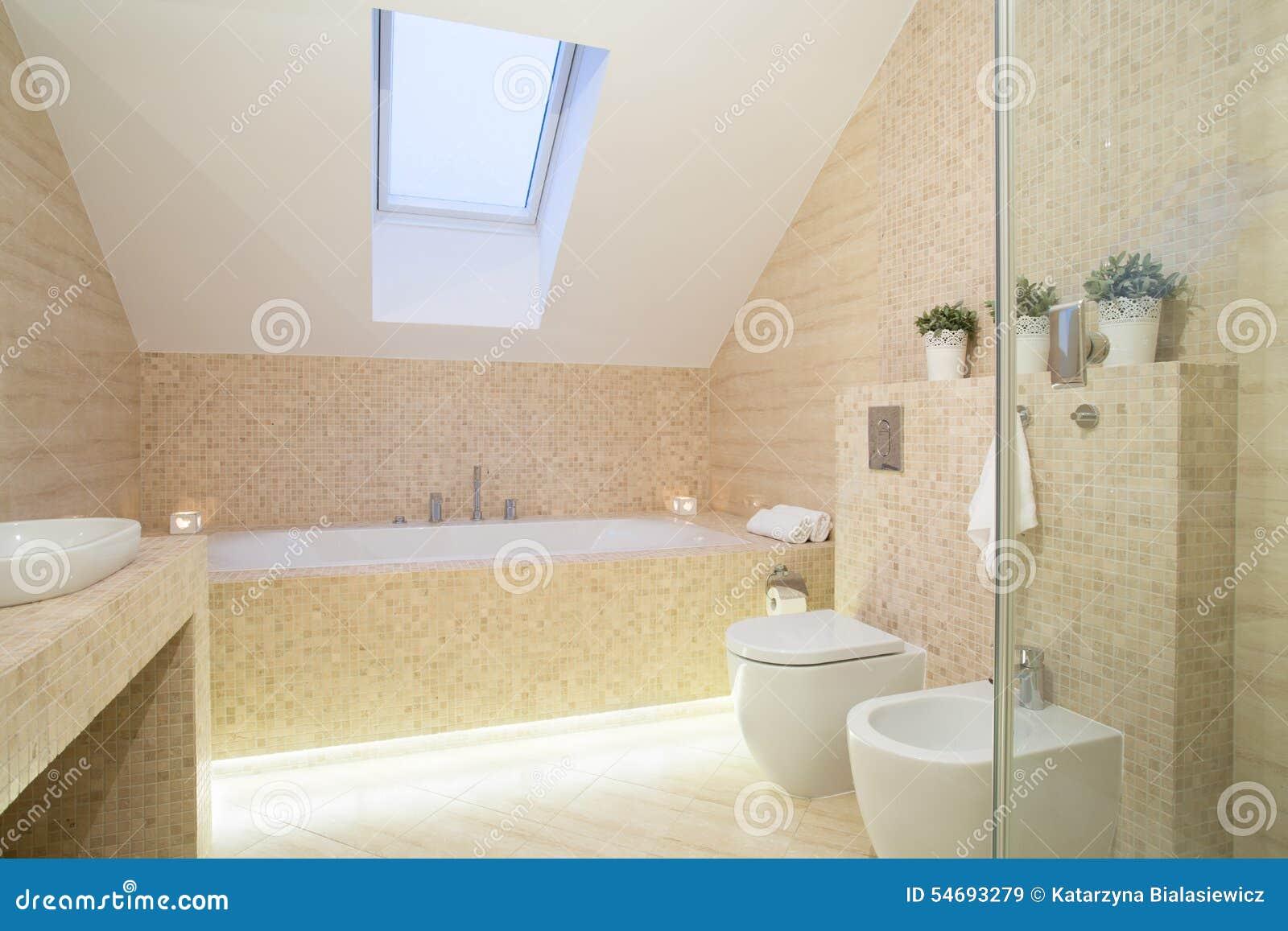 Bright exclusive bathroom