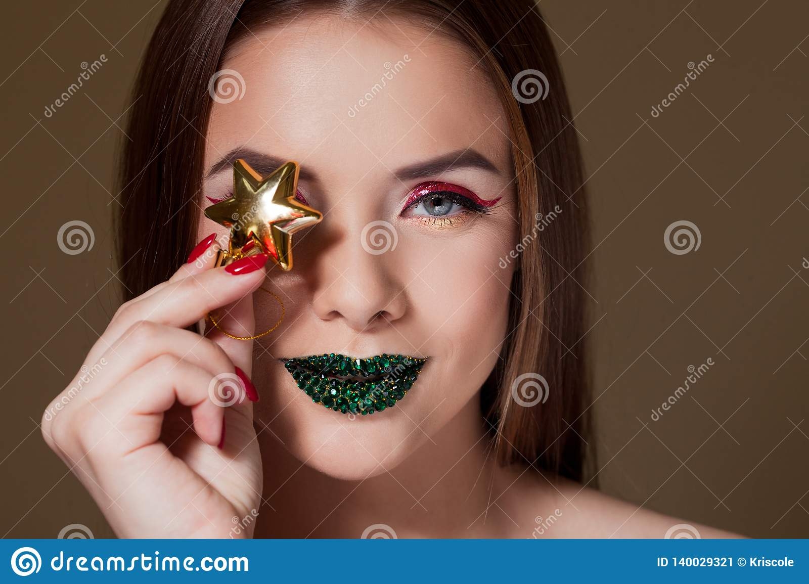 Girl'S Green Eye Close Up Stock Photo 60667501 : Shutterstock