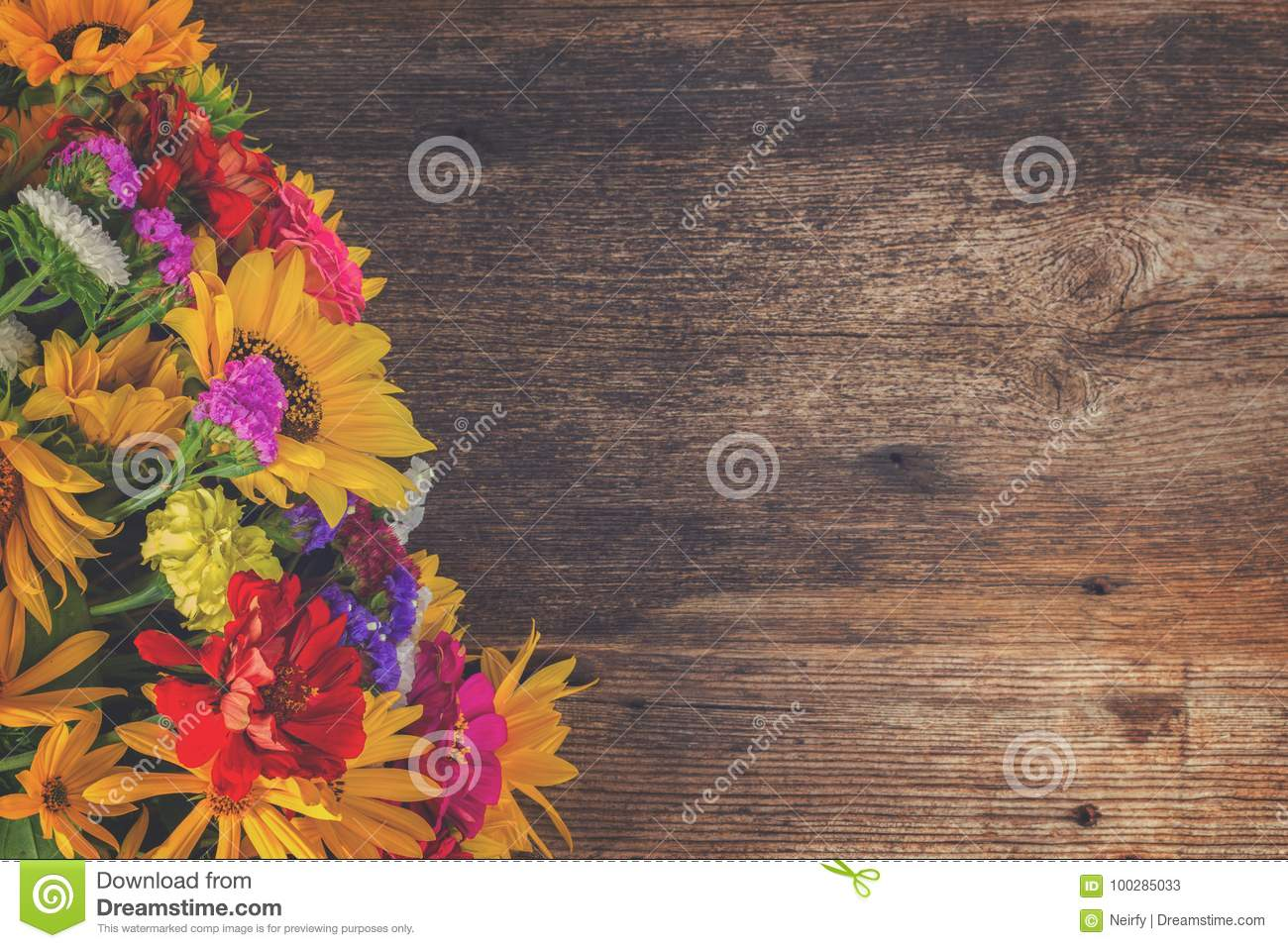 Bright Fall Bouquet Stock Image Image Of Bunch Fresh 100285033