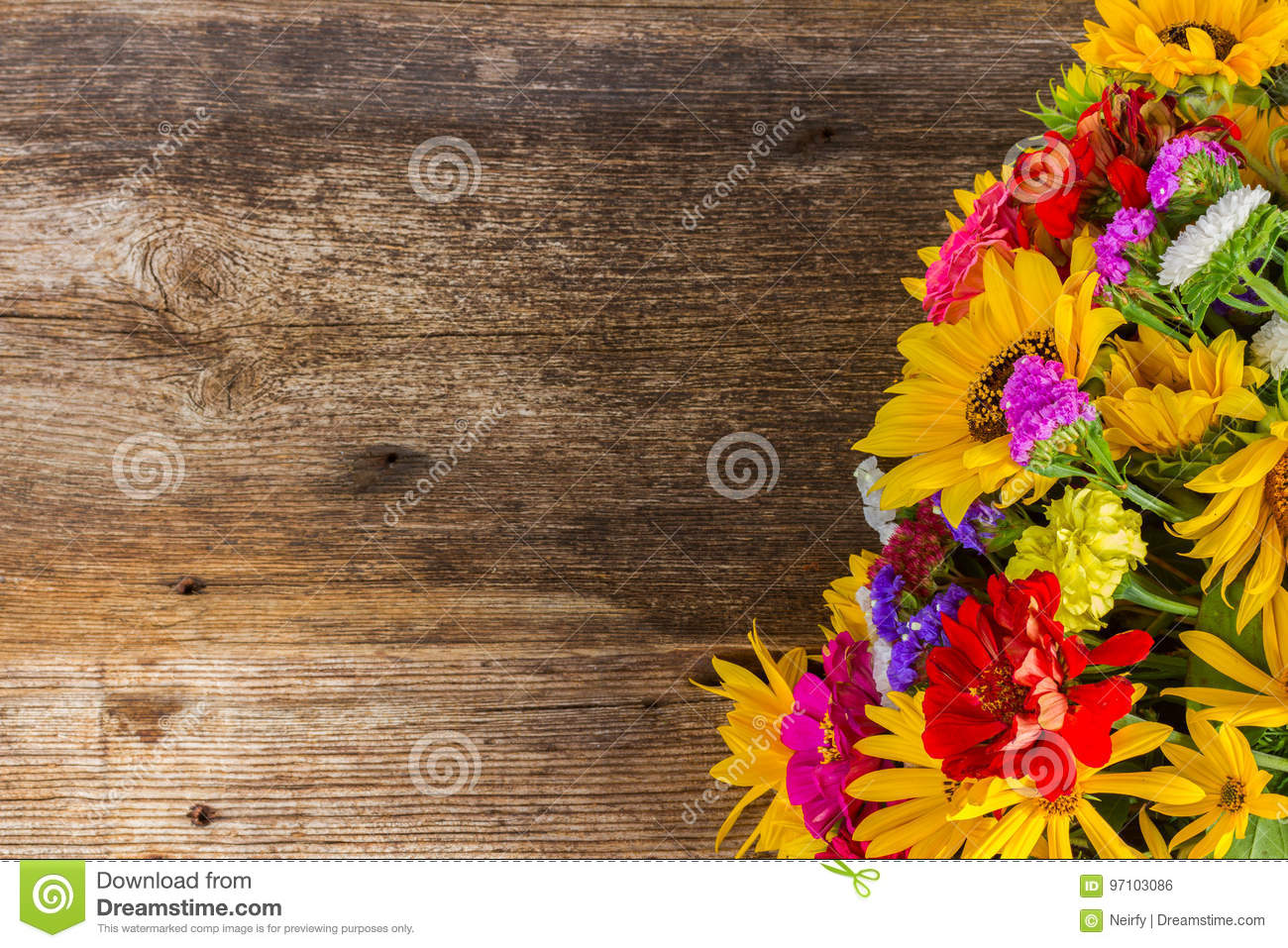 Bright Fall Bouquet Stock Photo Image Of Fall Floral 97103086