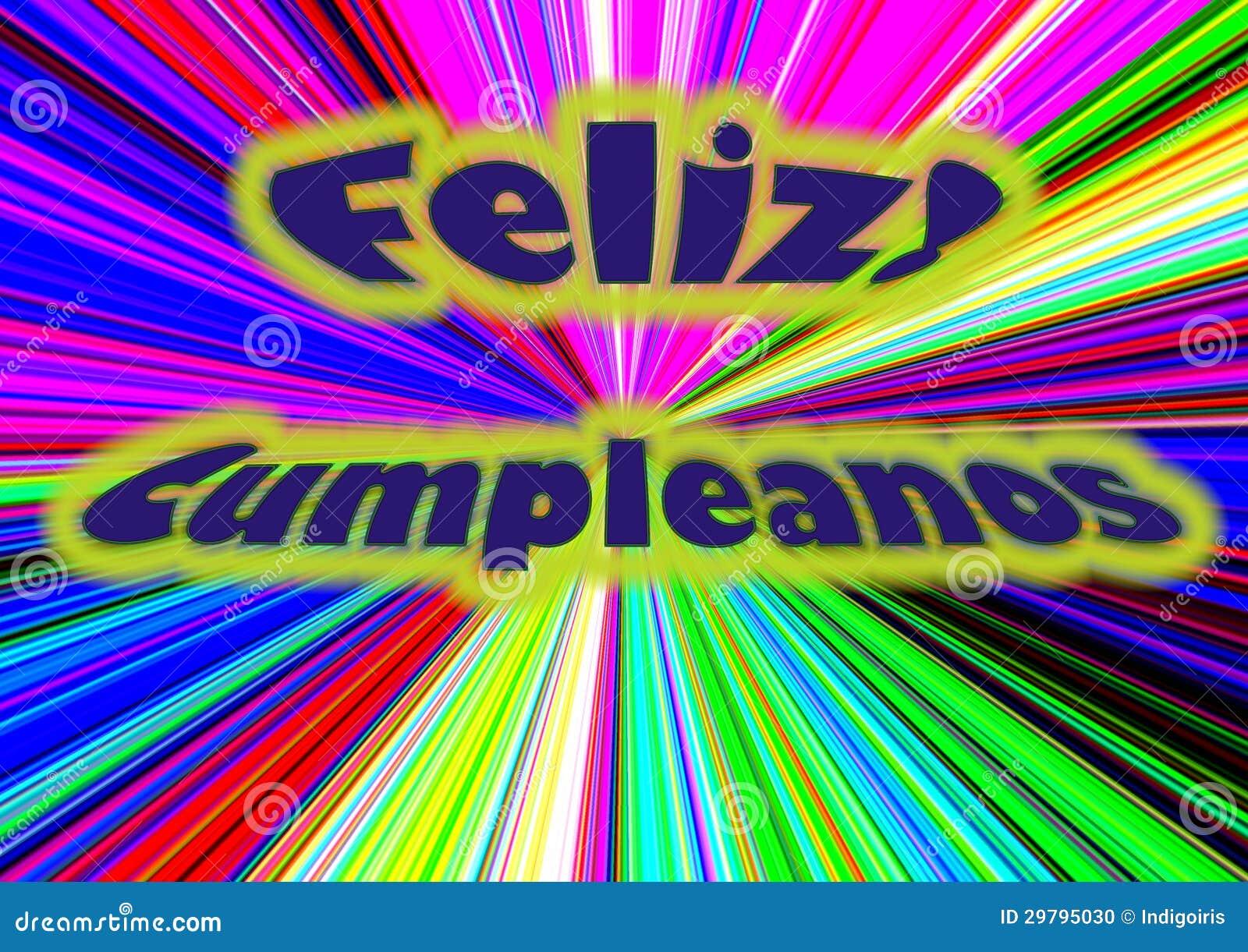 Feliz Cumpleanos Stock Illustration Illustration Of Saludo 29795030