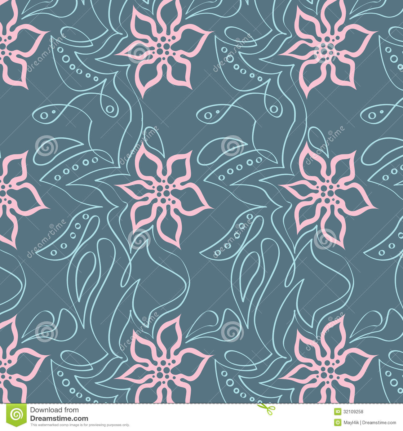 Bright Floral Pattern Royalty Free Stock Photos - Image ...