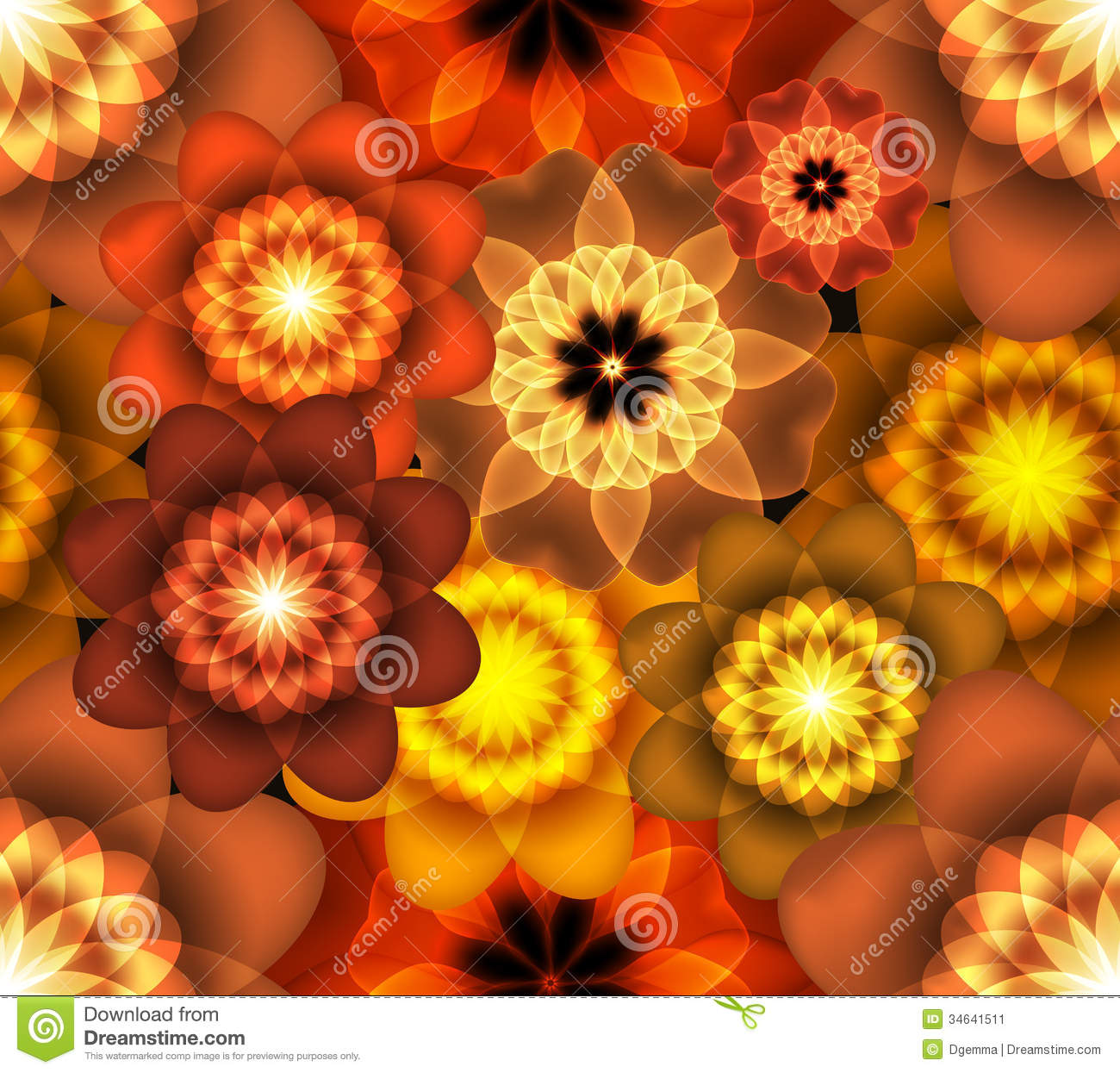bright floral wallpaper stock image image 34641511