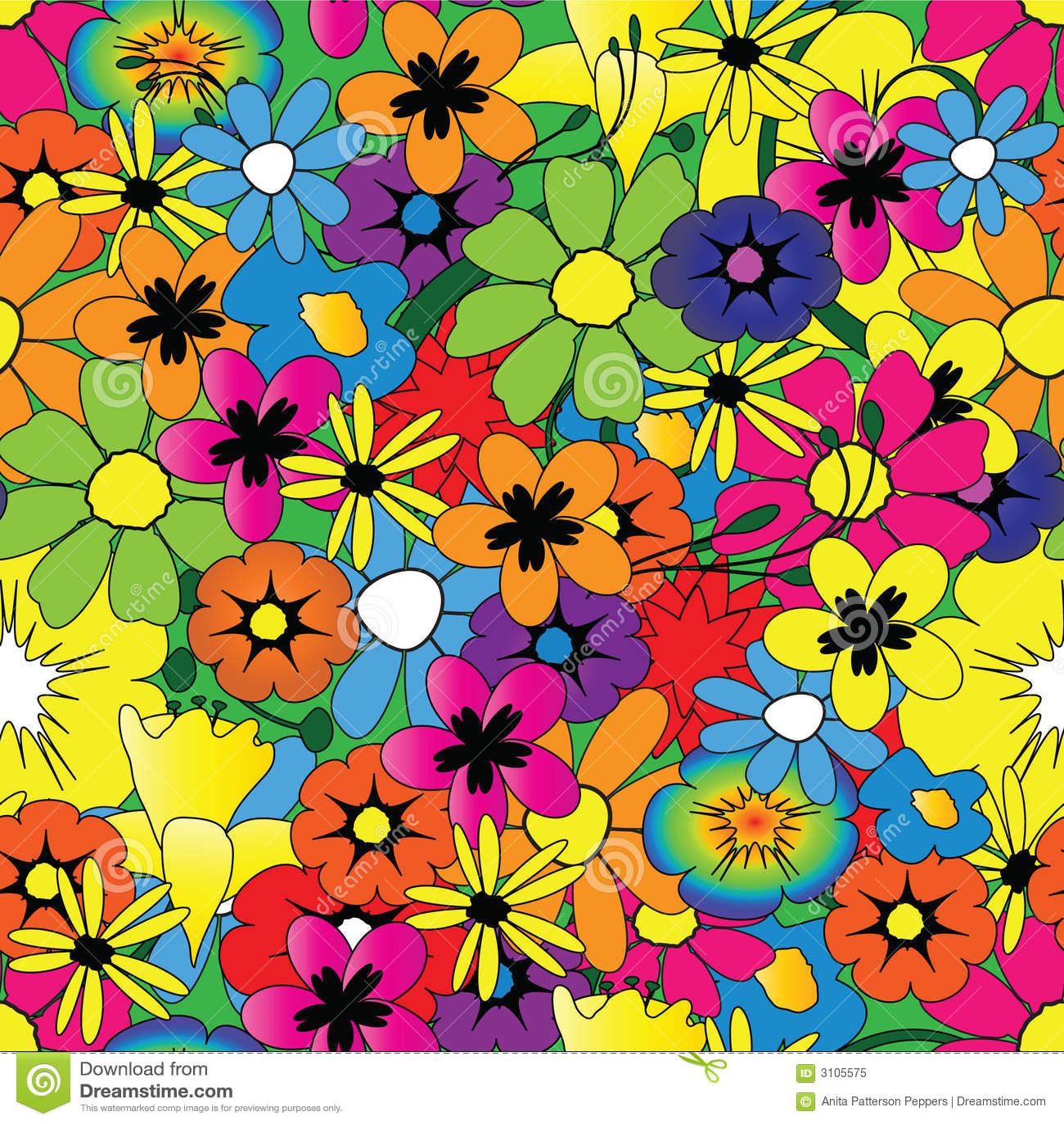 Bright flower pattern stock vector. Illustration of ...