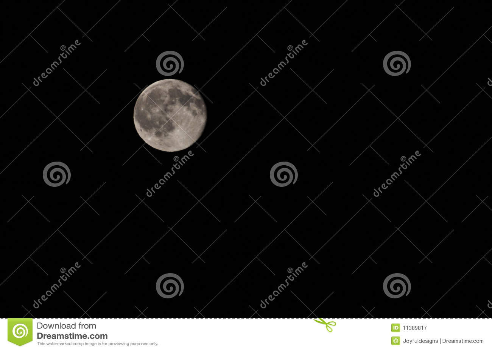 Bright Full Moon Against Black Sky Stock Image Image Of Night